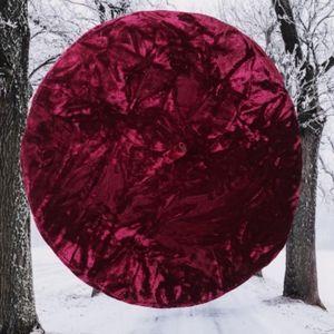 Crushed Velvet Red Burgundy Beret Cap